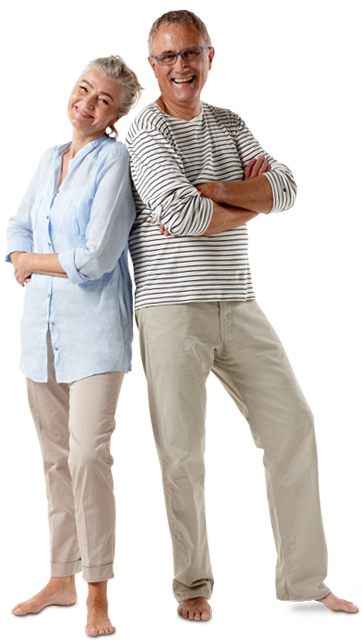 A middle-aged couple