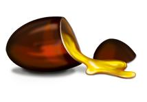 Capsule with yellow ubiquinone